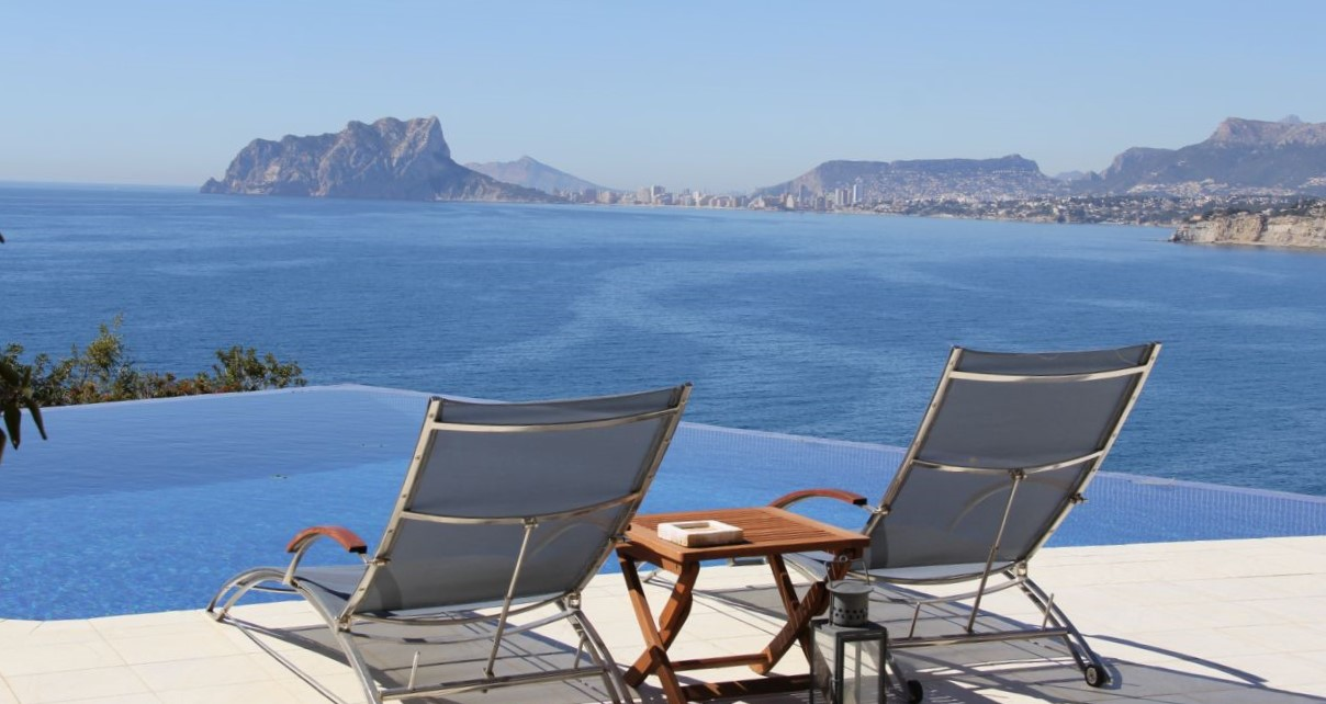 Sea views from a house in El Portet, Moraira