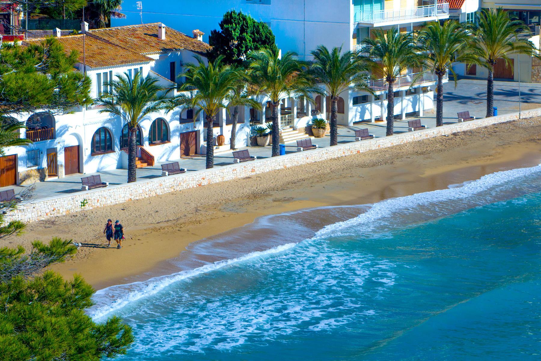 The sandy beach of El Portet, Moraira, Costa Blanca, Spain
